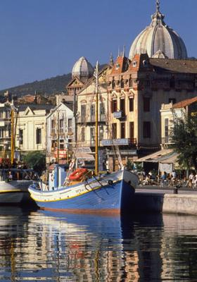 Lesbos Harbor on the <br>Greek island of Lesbos