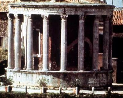 The temple of Sybil in ancient Rome