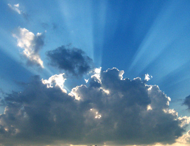 Sunshine above the storm