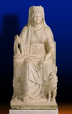 Cybele the Roman fertility goddess