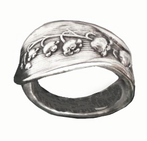 Ring from a spoon handle