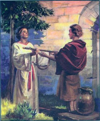 Jonathan and David, 1 Samuel 18:1-3