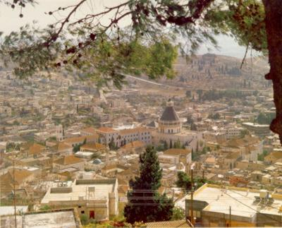Modern Nazareth has about <br>60,000 inhabitants