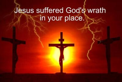 Jesus died as us for us<br>in our place as our Substitute