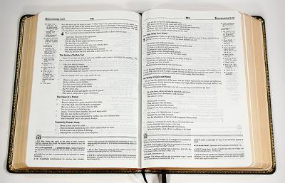 Study Bibles have notes, maps, explanations