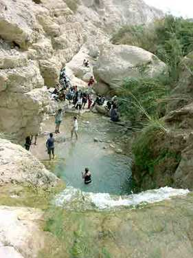 Wilderness of Engedi, <br>where David hid from King Saul