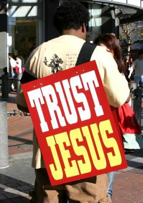 Trust Jesus alone by faith alone to save you