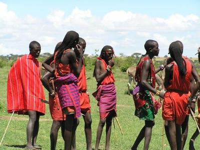Maasai warriors<br> courtesy Wikimedia Commons