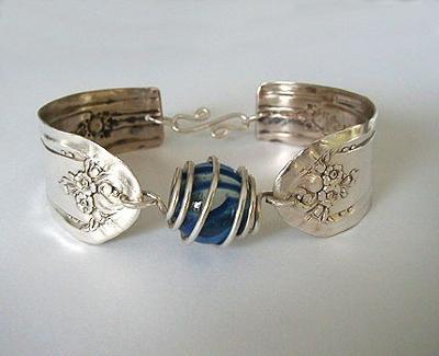 Bracelet from spoon handles