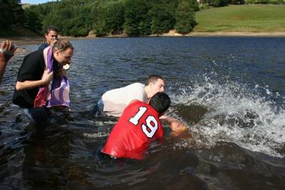Baptism is by immersion<br>not sprinkling not pouring