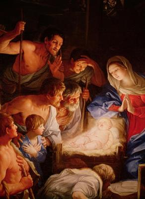 Adoration of the Shepherds<br>by Guido Reni, 1575-1642
