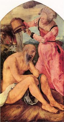 Job, painted between 1500-1503<br>by Albrecht Dürer, 1471-1528