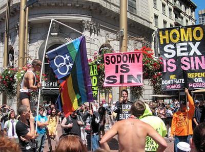 Anti-gay preachers in San Francisco